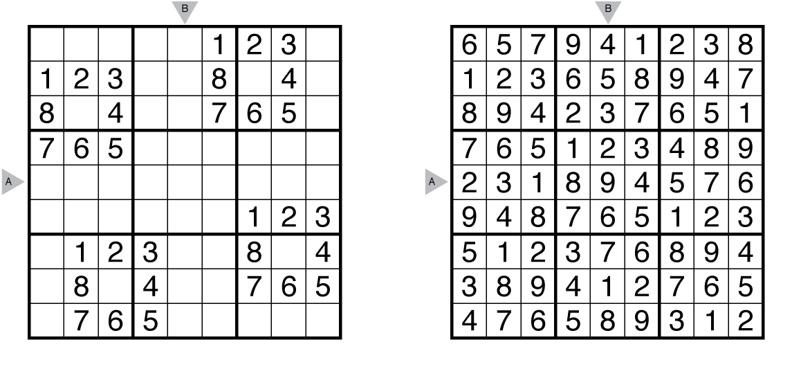 Easy sudoku with answer key sudoku rules and info the art of puzzles
